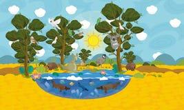 Австралийская сцена животных Стоковое Изображение