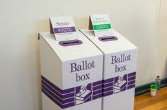 Австралийская урна для избирательных бюллетеней стоковая фотография