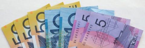 Австралийские бумажные деньги Стоковая Фотография