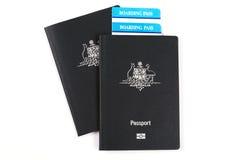 австралийские пасспорты Стоковое Изображение RF