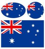 Австралийские флаги Стоковая Фотография RF