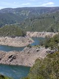 Австралийский ландшафт горы с озером Стоковое Фото