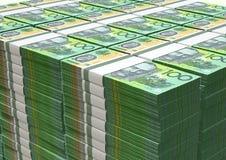 Австралийский доллар замечает кучу Стоковые Фотографии RF