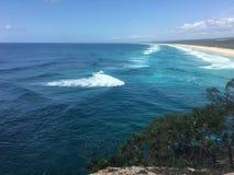 Австралийский пляж прибоя стоковая фотография rf