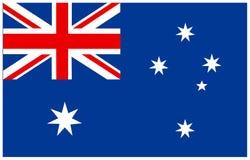 австралийский флаг Стоковые Фотографии RF