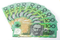 $100 австралийских банкнот Стоковые Изображения