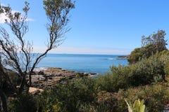Австралийское побережье на Currarong NSW Стоковое Изображение RF