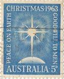 Австралийское рождество штемпеля почтового сбора стоковое изображение