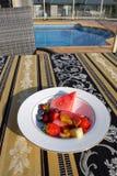 Австралия: внешний завтрак бассейном Стоковое фото RF