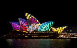 Австралия Сидней 7-ое июня 2017 ежегодный яркий светлый дисплей Стоковое фото RF