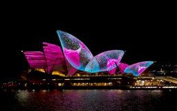 Австралия Сидней 7-ое июня 2017 ежегодный яркий светлый дисплей Стоковые Фотографии RF