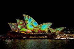 Австралия Сидней 7-ое июня 2017 ежегодный яркий светлый дисплей Стоковая Фотография RF
