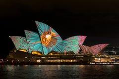 Австралия Сидней 7-ое июня 2017 ежегодный яркий светлый дисплей Стоковое Фото
