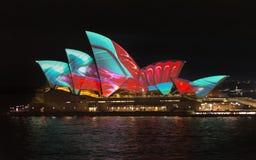 Австралия Сидней 7-ое июня 2017 ежегодный яркий светлый дисплей Стоковые Изображения RF