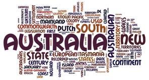 Австралия формулирует облако стоковая фотография rf