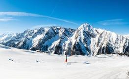 Австриец Альпы, лыжный курорт Mayrhofen Стоковое Изображение