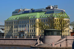 Австриец делового центра на обваловке Pirogovskaya в Санкт-Петербурге, России Стоковая Фотография RF