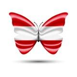 Австрийская бабочка флага Стоковые Фотографии RF