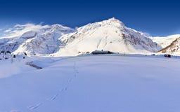 австрийская зима ландшафта Стоковые Изображения RF