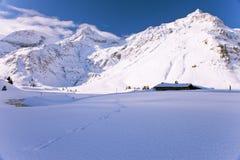 австрийская зима ландшафта Стоковое Изображение