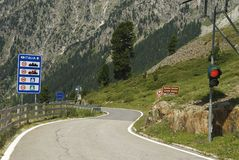 австрийская итальянка граници Стоковые Изображения RF