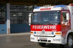 Австрийская пожарная машина Стоковая Фотография
