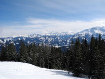 Австрийские горы - ландшафт зимы Стоковая Фотография RF