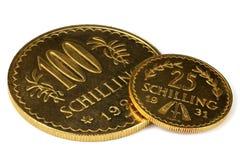 Австрийские золотые монетки Стоковое Изображение RF