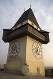 австрийские часы стоковые фото