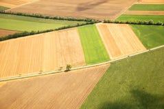 Австрийский ландшафт увиденный от самолета Стоковая Фотография RF