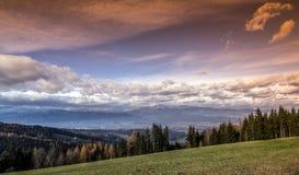 Австрийский ландшафт Стоковая Фотография RF
