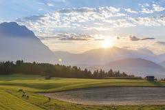 Австрийский взгляд ландшафта стоковое изображение