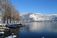 Австрийский горный вид Стоковые Фото