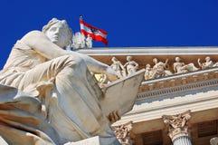 Австрийский парламент, Вена стоковые фотографии rf
