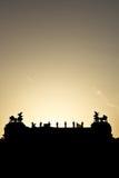 австрийский парламент silhouette Стоковое Изображение RF