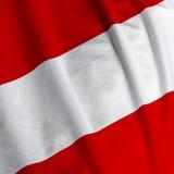 австрийский флаг крупного плана Стоковое фото RF
