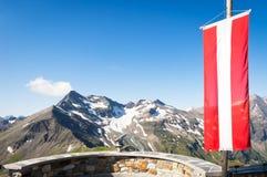 Австрийский флаг Стоковое Фото