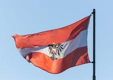австрийский флаг стоковое изображение
