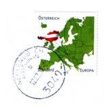 Австрийский штемпель почтового сбора иллюстрация штока