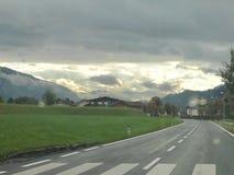 Австрийское небо Стоковая Фотография
