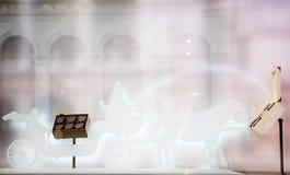 Австрия, вена - 26-ое декабря 2017 Конфета Sacher Витрина с оформлением и помадками ` s Нового Года стоковое изображение