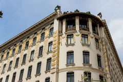Австрия, вена, wien дома строки стоковая фотография