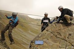 """Австрия: Взбираться в долине Montafon на """"Gargellen-Köpfe """" стоковое фото"""