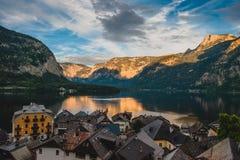 Австрия, место Hallstatt большое Стоковое фото RF