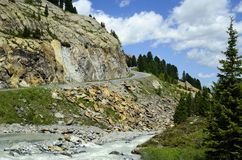 Австрия, Tirol, Kaunertal Стоковые Изображения RF