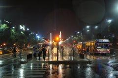 Автобусная остановка, Буэнос-Айрес Стоковая Фотография