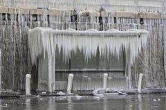 Автобусная остановка на льде Стоковые Фото