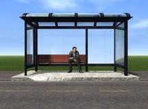 автобусная остановка Стоковое фото RF