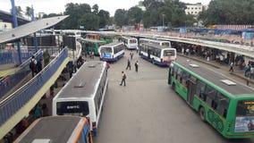 Автобусная остановка Kempegowda стоковая фотография rf