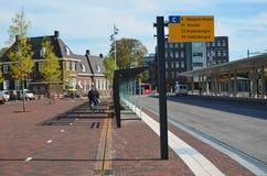 Автобусная станция в Lelystadt, Голландии стоковые фотографии rf